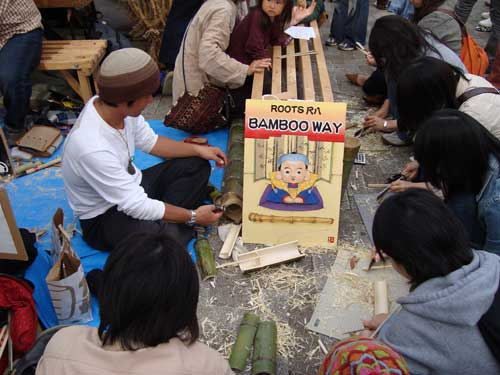 Earth Day Bamboo Craft
