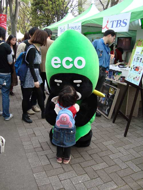 Earth Day Eco mascot