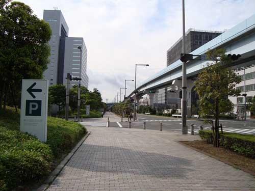 Odaiba sidewalk