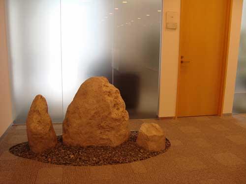 Office rock landscape