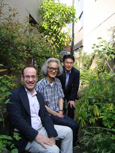 Tase Michio, Umeki, and me in front of Tase's Tokyo studio