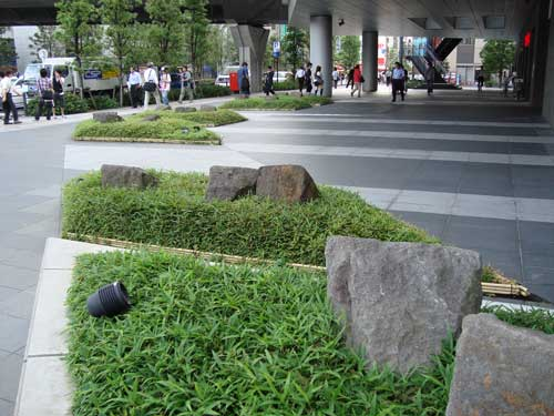 Office tower landscaping, Akihabara