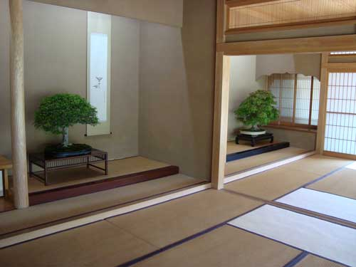 2 formal rooms in bonsai museum
