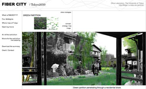 Green Partition Fiber City: Tokyo 2050