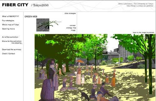 Green Web Fiber City: Tokyo 2050