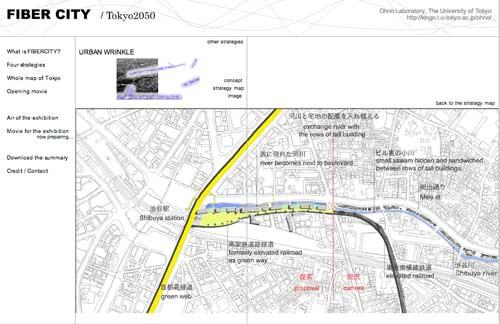 Urban Wrinkle Fiber City: Tokyo 2050