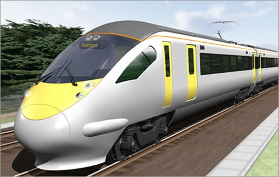 Hitachi high speed trains begin in UK