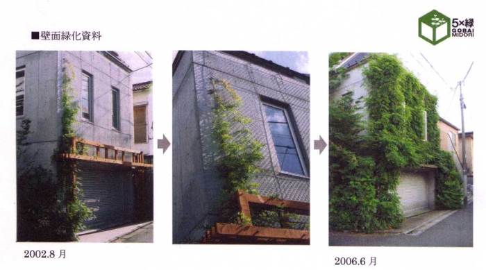 Kami Meguro residence B wisteria in 2002 and 2006