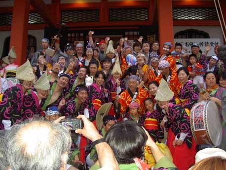 Awa Odori Dancers in Kagurazaka