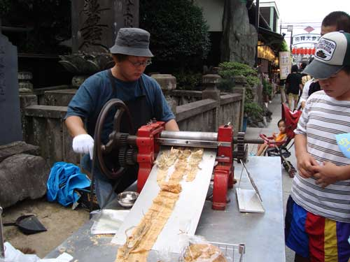 surume ikka or sun-dried squid machine, Shibamata