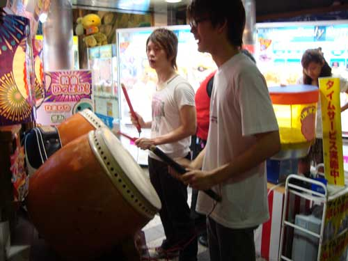 Taiko at video arcade