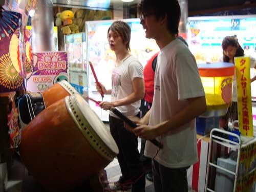 Taiko at video arcade