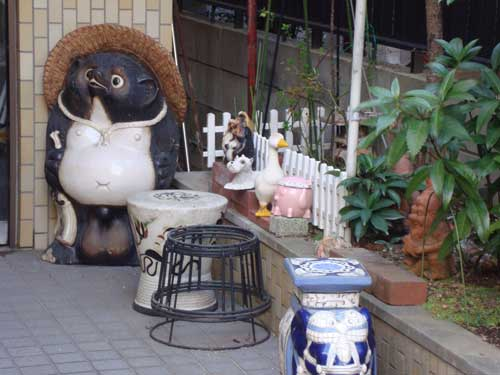 Tanoki and animal friends in Nakano