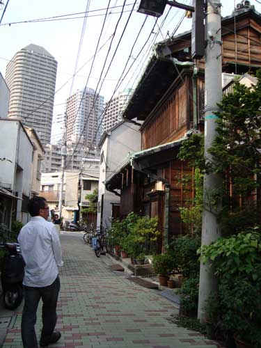 Tsukudajima old streetscape