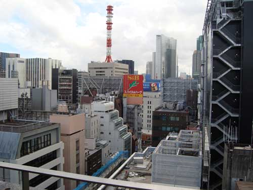Ginza Honey Bee Project roof view of sake company