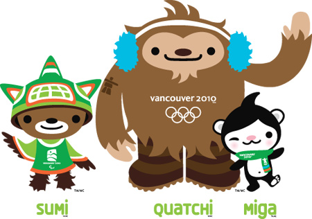 Vancouver Olympics 2010 mascots