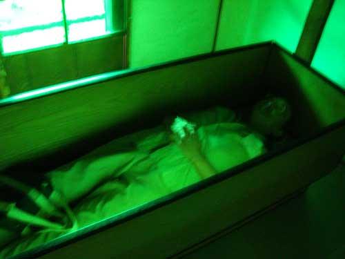 Niigata Dream House bed with Prof Suzuki