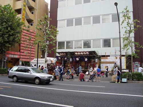 Temporary shrine for omatsuri