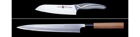 Japanese and German knives