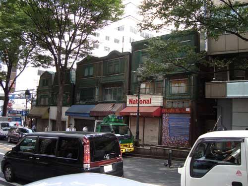 Shibuya old buildings