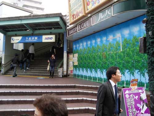 A fake forest in Shimokitazawa