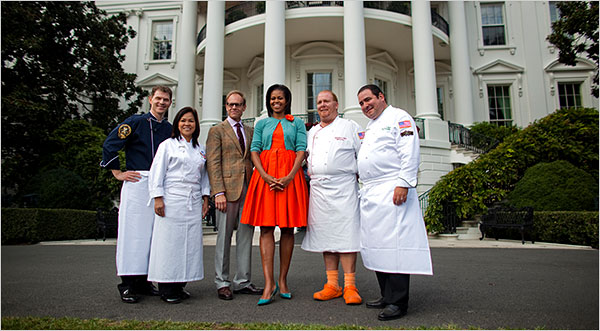 Michelle Obama and chefs