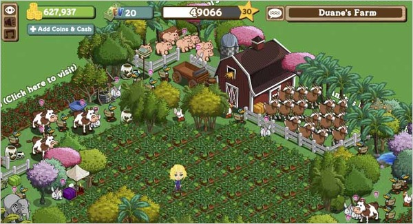 Farmville, an addiction to virtual farming