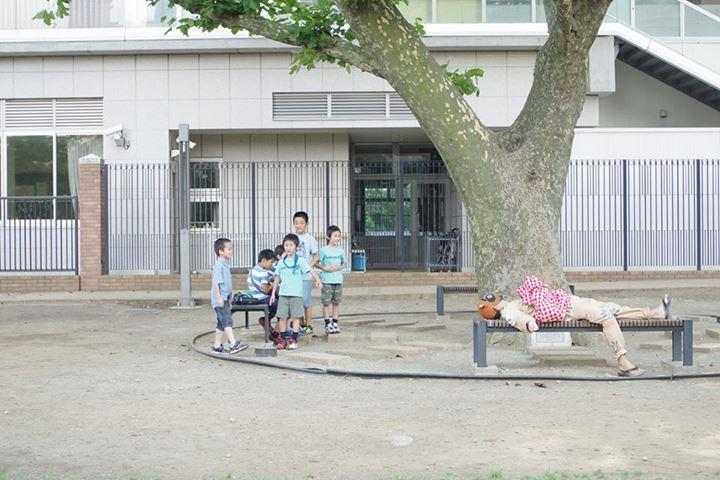 tanuki_shibaura_park_bench