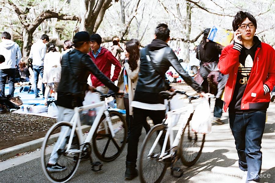 cute_boy_telephone_bikes_hanami_yoyogi_park